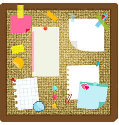 Paper sheets sticky notes stickers hanging on vector