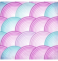 Pink retro fish scales seamless pattern vector image vector image