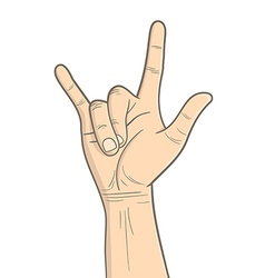 Rock hand vector image