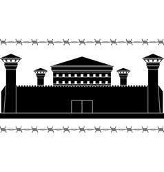 Stencil of prison vector