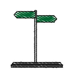 Street arrow icon image vector