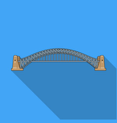 Sydney harbour bridge icon in flat style isolated vector