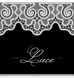 White lace on black vector
