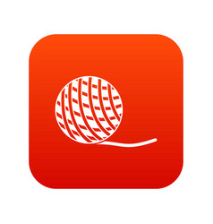 Yarn ball toy for cat icon digital red vector