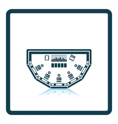 Poker table icon vector image