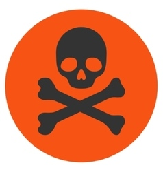 Death flat icon vector