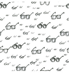 Different eyeglasses types seamless pattern hand vector