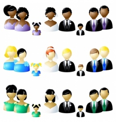 Wedding party icons vector