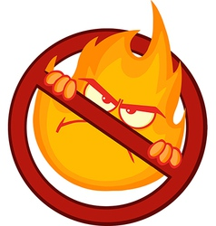 Cartoon flame vector