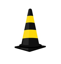 Black traffic cone vector