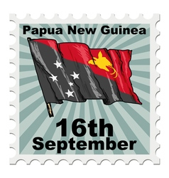 Post stamp of national day of papua new guinea vector