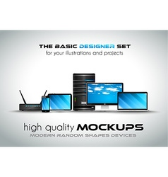 Modern devices mockups for your business projects vector image