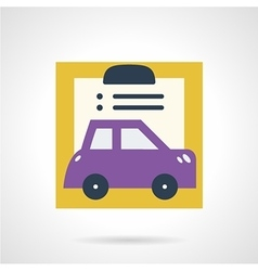 Car insurance document flat icon vector