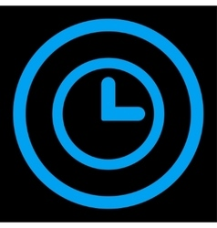 Clock flat blue color rounded icon vector