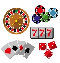 Set of icons for casino vector