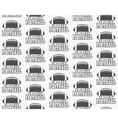 american football seamless pattern Sports vector image