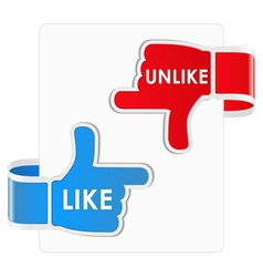 Like and unlike stickers vector