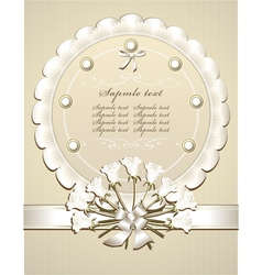 Wedding congratulation or invitation with roses vector