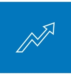 Arrow upward line icon vector