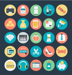 Shopping Colored Icons 3 vector image