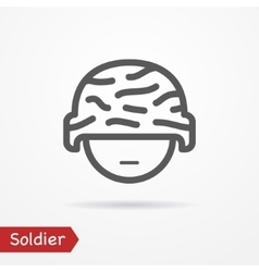 Soldier face icon vector