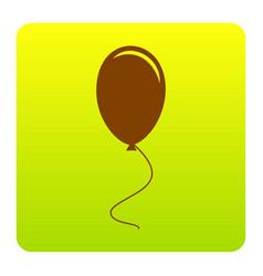 balloon sign brown icon at vector image vector image