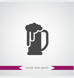 beer icon simple vector image vector image