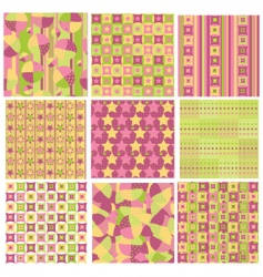 bright patterns vector image vector image