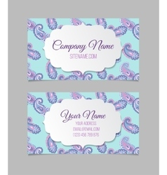 Business card template Asian paisley vector image vector image