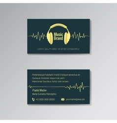 Business card template for music brand vector image