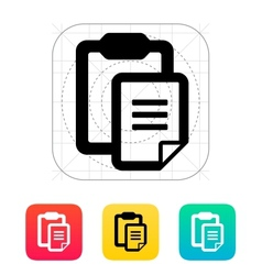 Clipboard with text file icon vector