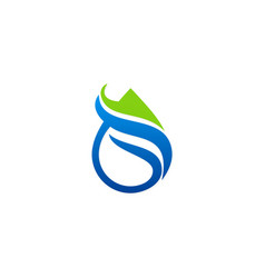 eco droplet abstract logo vector image
