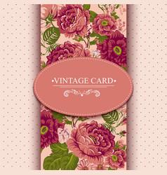 Elegance vintage floral card with roses vector