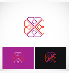 geometry line abstract color logo vector image vector image