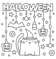 halloween coloring page vector image