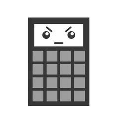 kawaii calculator cartoon vector image