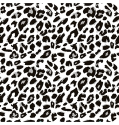 Leopard skin print pattern Seamless animal fur vector image