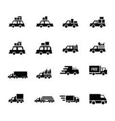 Logistics and transport icons vector