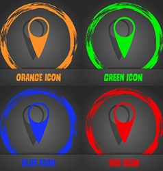 Map pointer icon gps location symbol fashionable vector