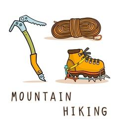 Mountain hiking vector