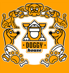 On the theme of dogs logo vector
