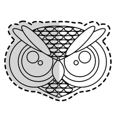 Owl animal cartoon vector