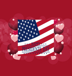 Presidents day greeting card or invitation usa vector