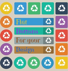 processing icon sign Set of twenty colored flat vector image