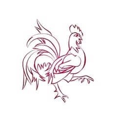 Red rooster is animal symbol of new year 2017 vector image vector image