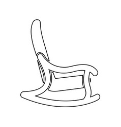 Rocking chair black color icon vector