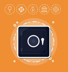 Safe box fintech investment financial internet vector