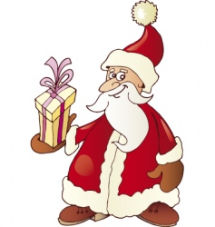 Santa Claus and gift vector image vector image