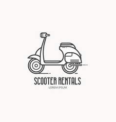 scooter rentals logo template vector image vector image
