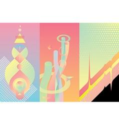 Set of color modern design elements vector image vector image